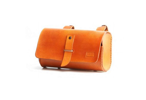 Tool bag / bicycle saddle bag by gushleather on Etsy, $84.00