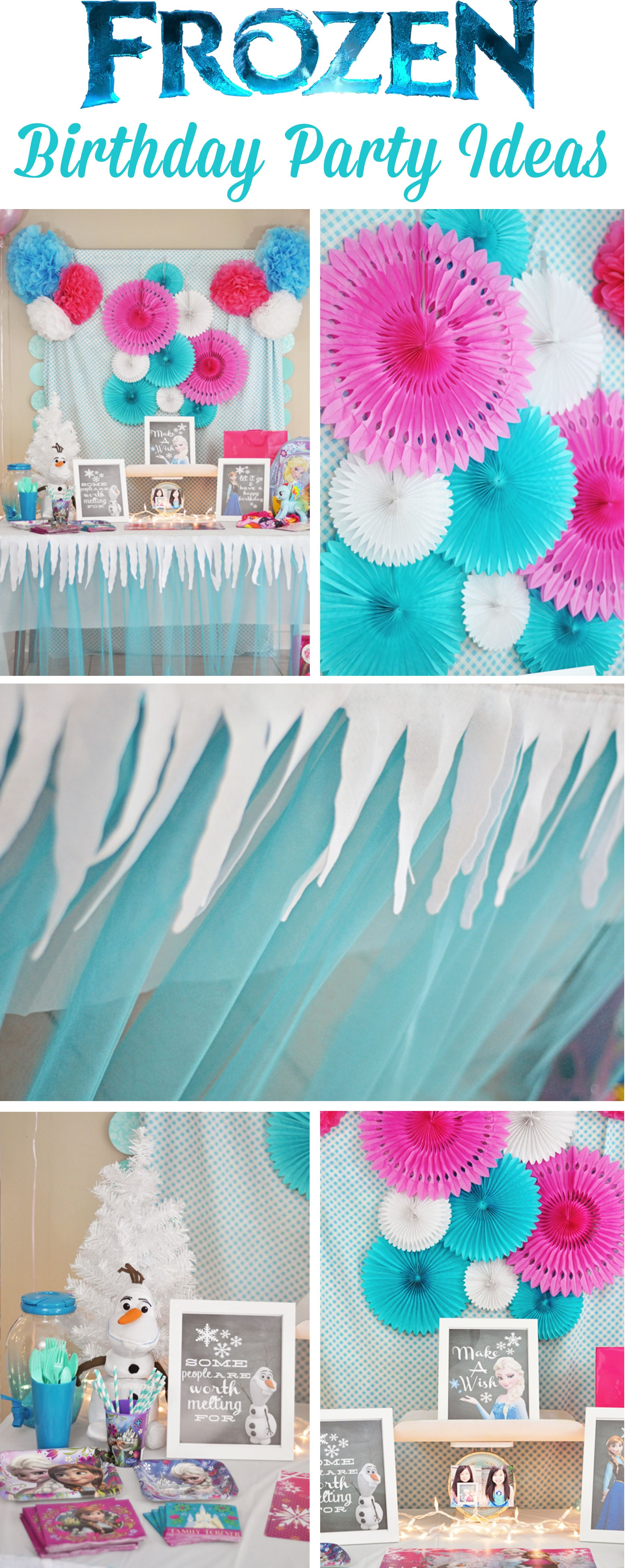 Frozen birthday party decorations ideas  DIY ideas for a Frozen inspired birthday party  Party Ideas