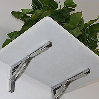 Automobiles & Motorcycles 2 Pieces Heavy Duty Stainless Steel Shelf Bracket Folding Table Bracket With Long Release 300kg Load