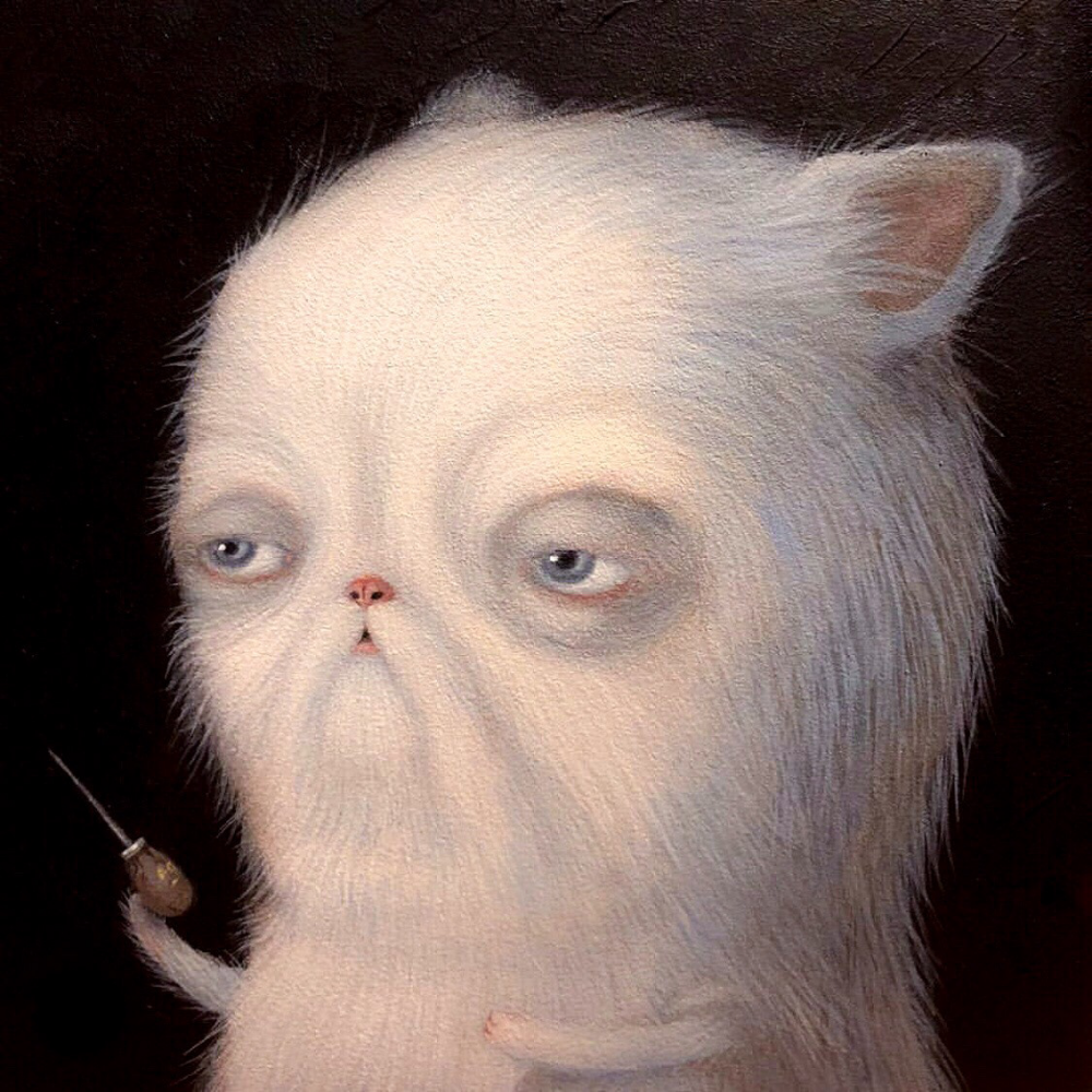 Acrylic Kitten In 2020 Acrylic Painting Landscape Paintings Acrylic Figurative Artists