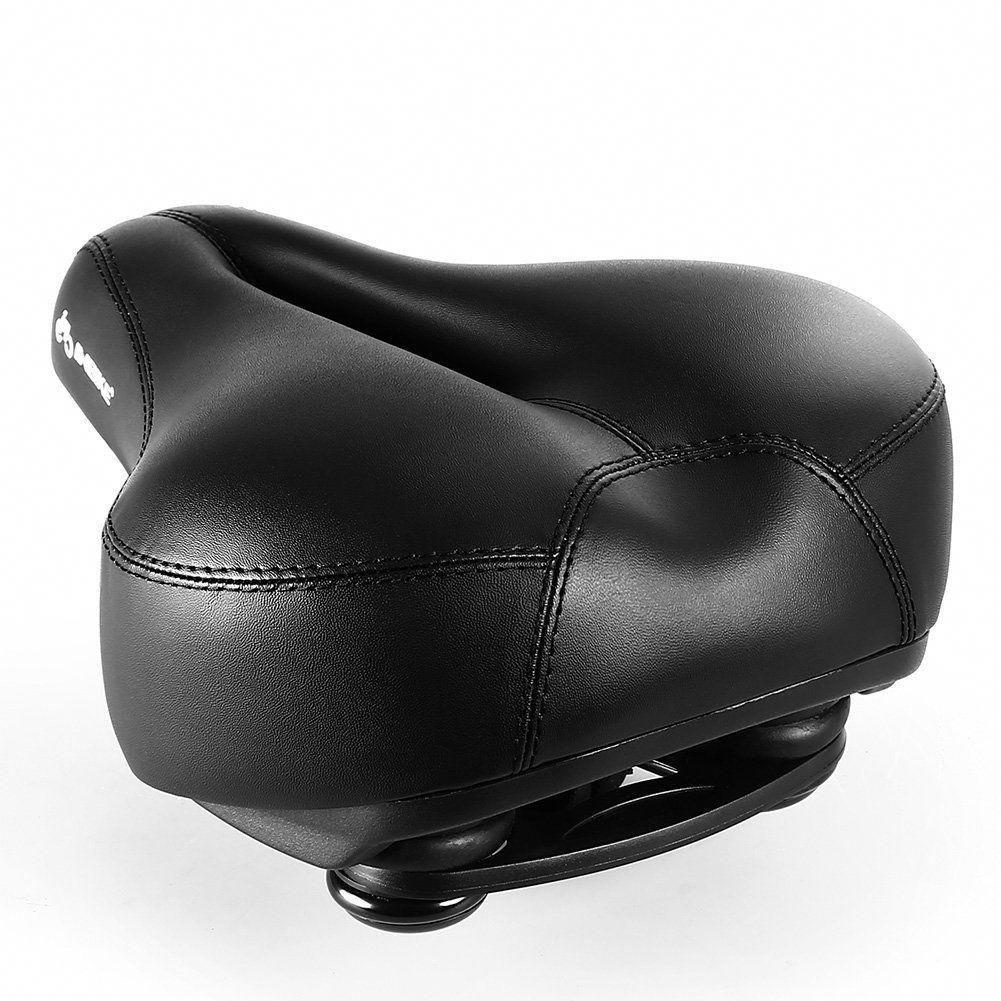 DAWAY Comfortable Men Women Bike Seat C99 Memory Foam Padded Leather Wide Bic...