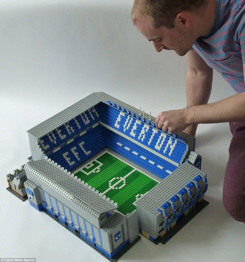Designer Uses Thousands Of Lego Bricks To Recreate Stadiums With