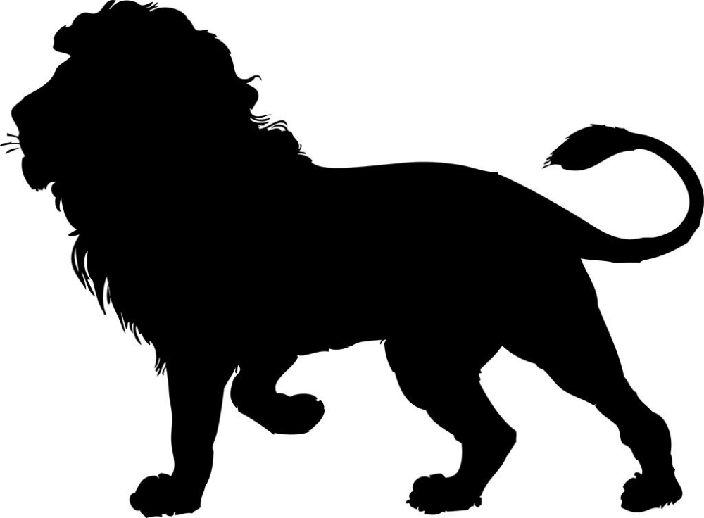 Framed Print Black Silhouette Of A Lion Picture Wild Animal Funky Modern Art Ebay In 2021 Lion Silhouette Animal Outline Lion Drawing
