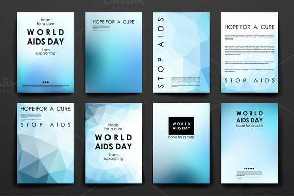 world aids day brochure templates by palau on creative market
