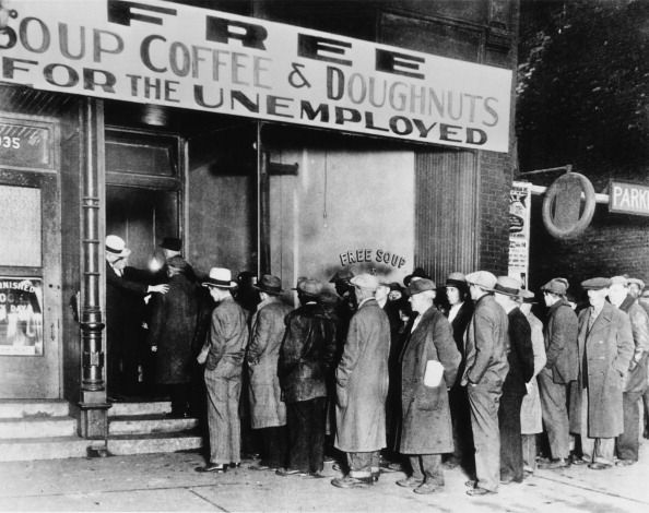 """Soup kitchens were the first """"solution"""" implemented to help people during the great depression. They were run by municipal and provincial governments since the federal wouldn't help. This picture shows a huge line for a soup kitchen. I found this on Wikipedia and many other sites and it is definitely a primary source. People in this time were desperate and needed food and warm place to sit for a wile and the soup kitchens did a pretty good job of that."""