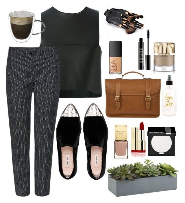 """""""Untitled #141"""" by madinasarsenbaeva ❤ liked on Polyvore featuring Fendi, Miu Miu, MAKE UP FOR EVER, Crate and Barrel, Mulberry, NARS Cosmetics and Lord & Berry"""