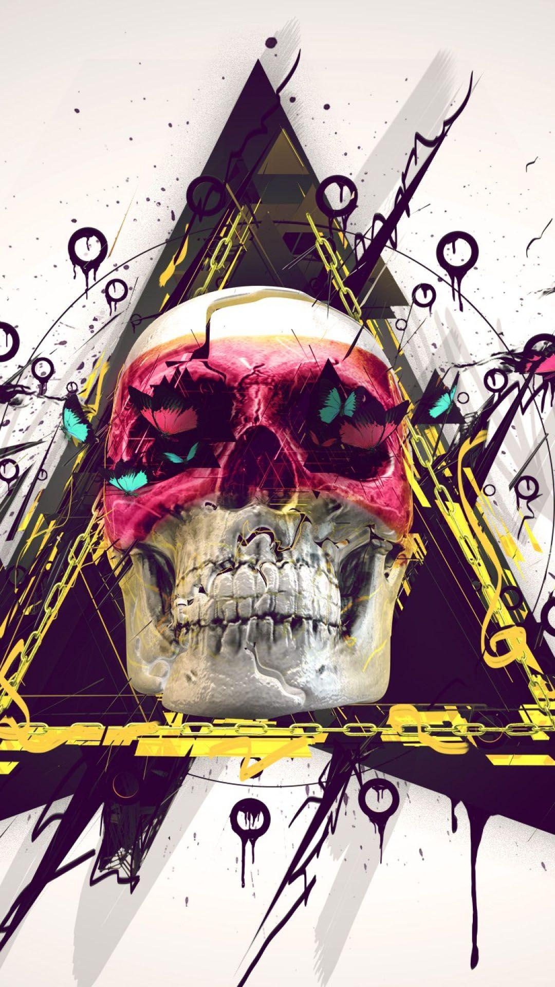 Hipster Wallpaper 頭蓋骨
