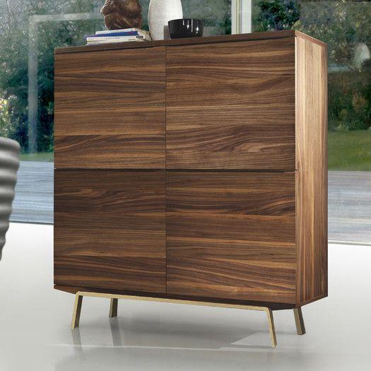 Best 4600 Bellini Modern Living Arco Accent Cabinet Walnut 400 x 300