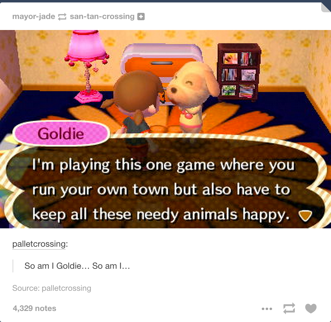 Inception? ~Animal Crossing<<<<Well it COULD be the animal's version of The Sims.
