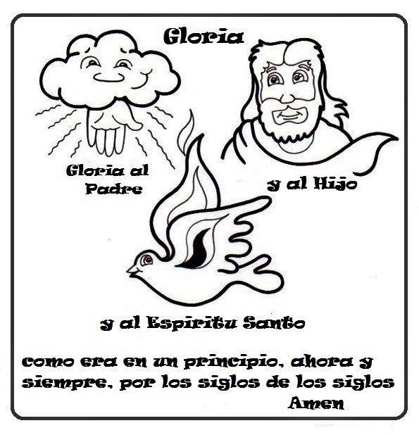gloria al padre oracion para niños para dibujar   La Catequesis ...