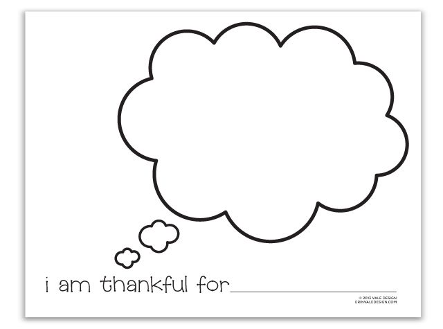 I Am Thankful For coloring page | Vale Design | Things to gobble ...