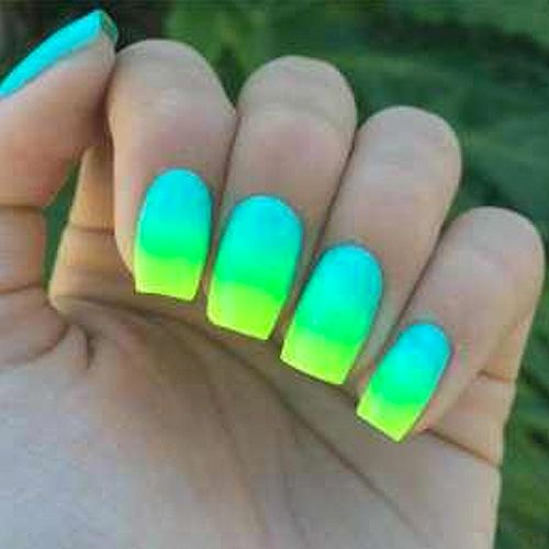 Neon Blue Nail Art With Images Neon Nails Neon Nail Art Designs