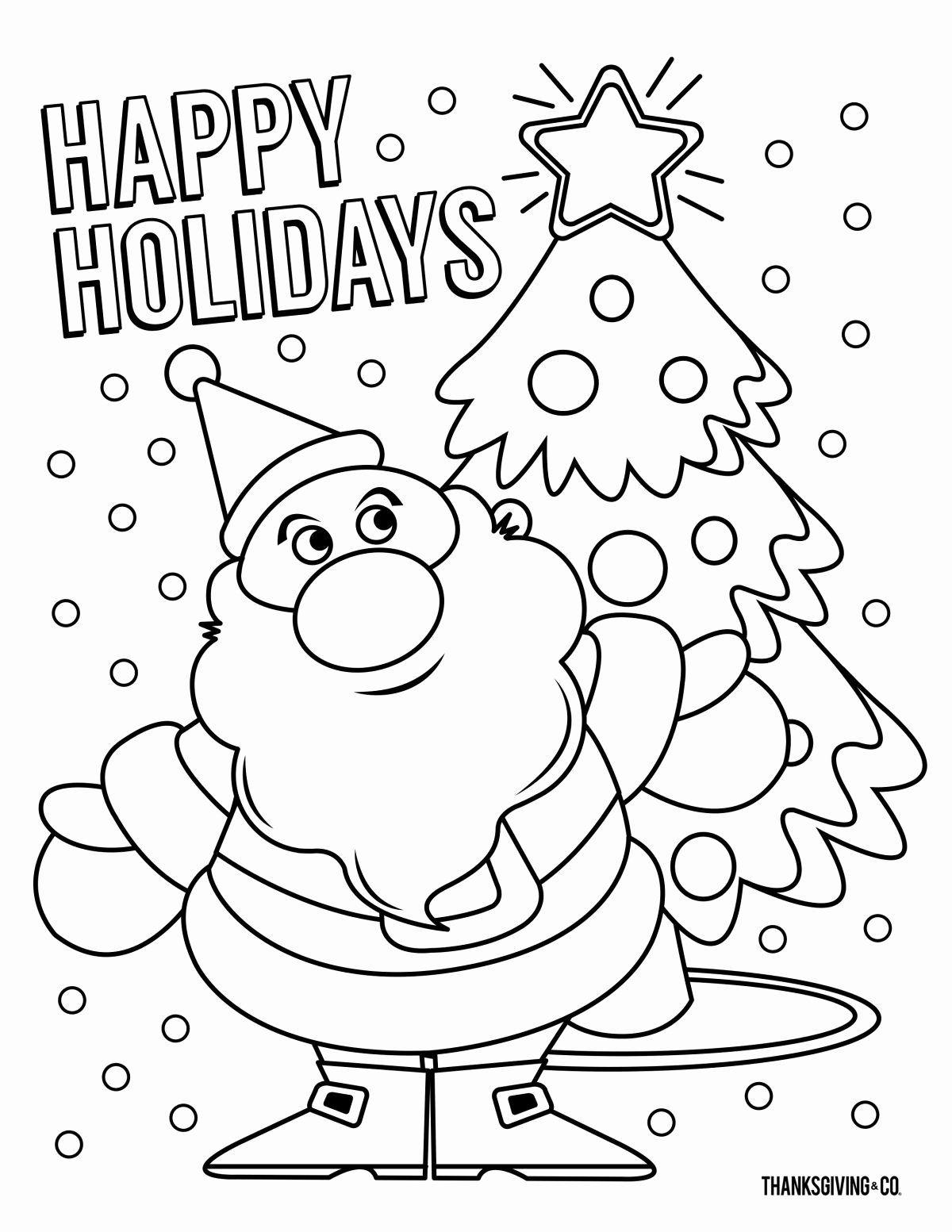 Christmas Coloring Activities For Preschoolers In