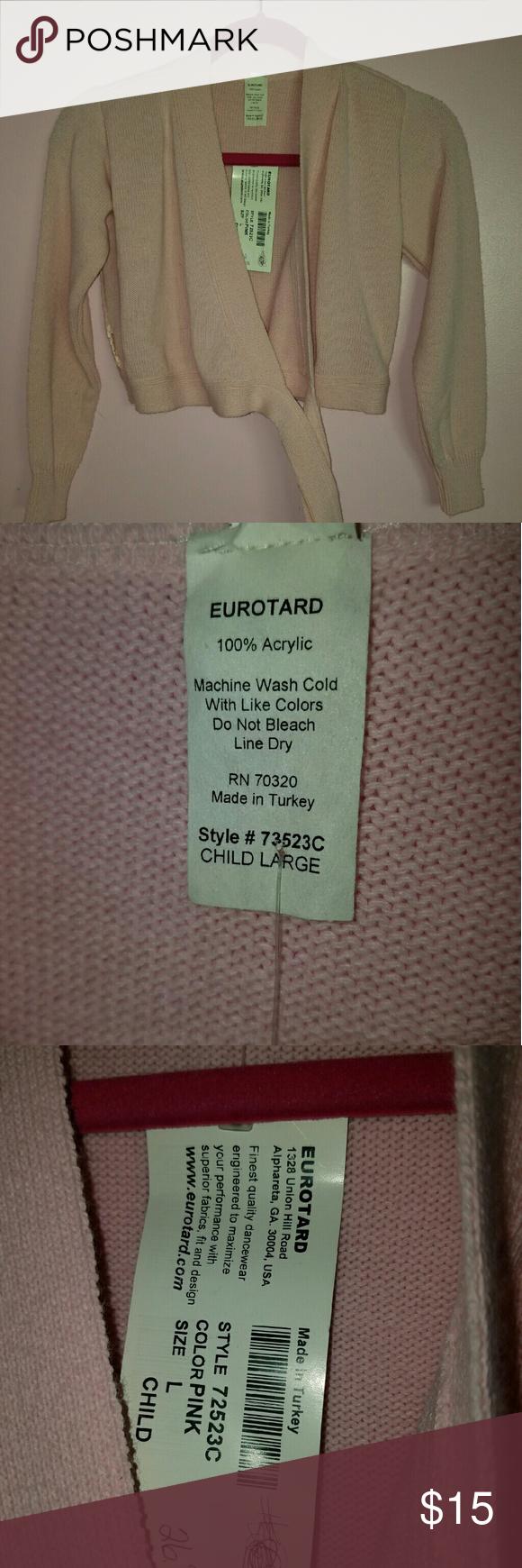 Dance sweater/wrap Eurotard Dance sweater/ wrap pink ties around waist eurotard Sweaters