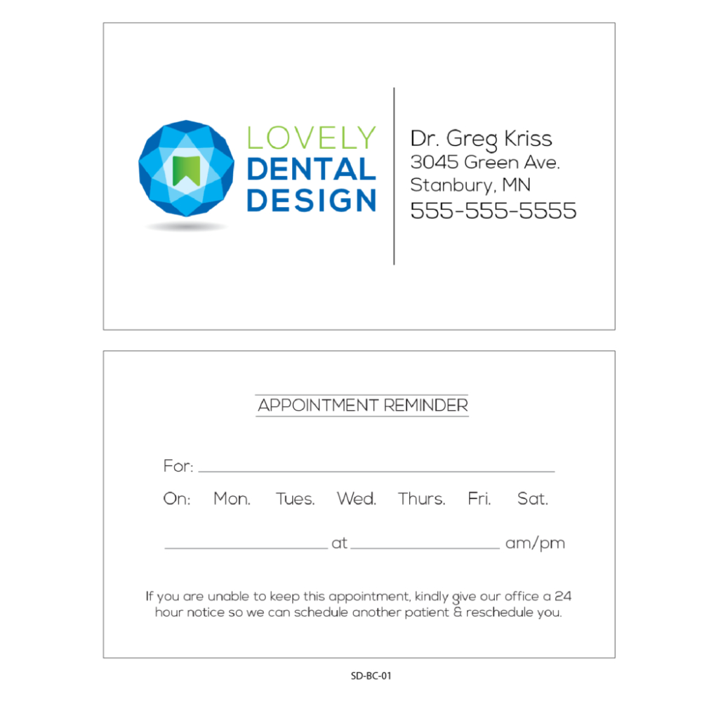 Business Card Appointment Reminder Card Templates Gargle Inside Dentist Appointment Card Templa Business Card Appointment Dentist Appointment Appointment Cards