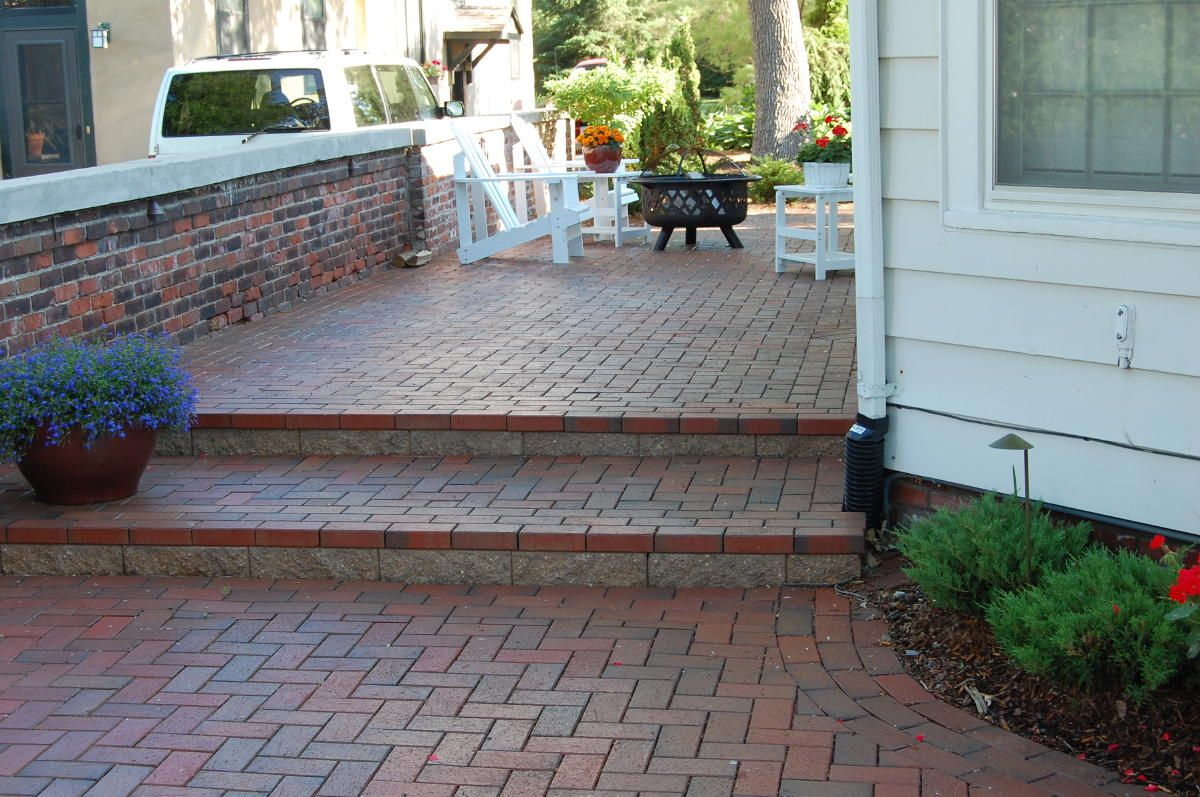 step-down paver patio - Google Search