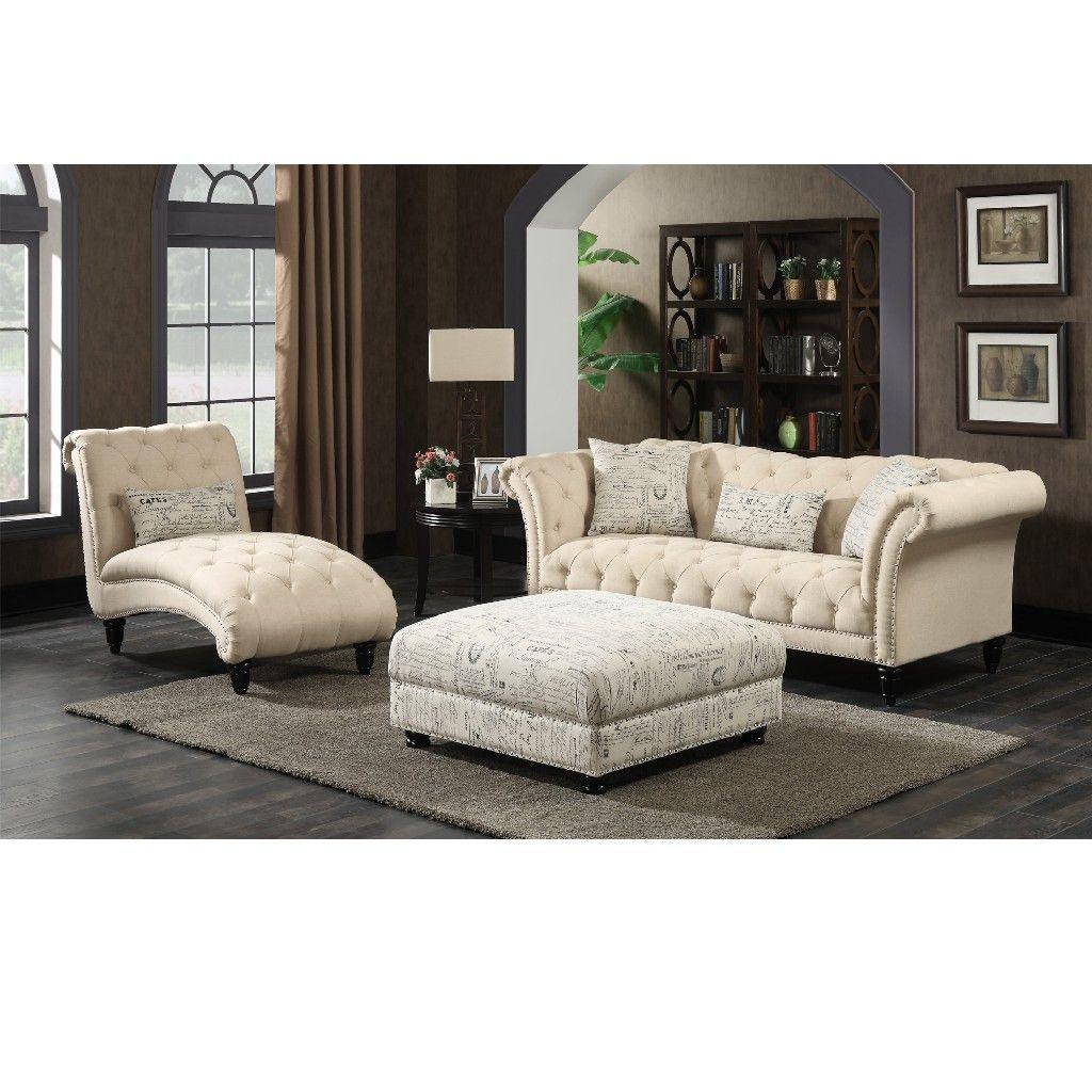 Best Twine 3Pc Sofa Set Sofa Chaise Ottoman Picket House 400 x 300