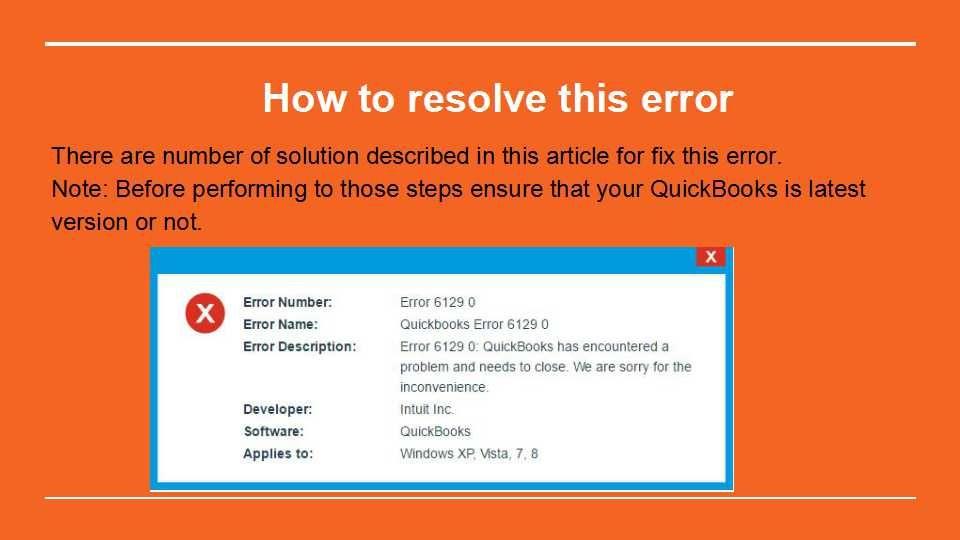 Pin by Rogger sam on QuickBooks Error 6129, 0 | Accounting