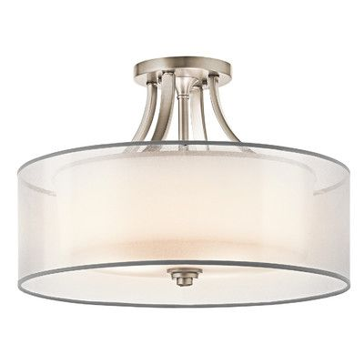 Kichler lacey 4 light semi flush mount reviews wayfair ca lighting pinterest lights bedroom lighting and ceiling lights