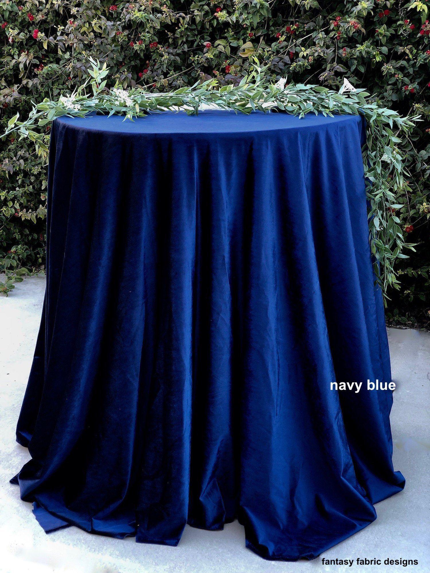 Navy Blue Velvet Tablecloth Navy Blue Wedding Navy Blue Table Cloth Navy Blue Tablecloth Blue Wedd Wedding Tablecloths Navy Bridal Shower Navy Blue Wedding