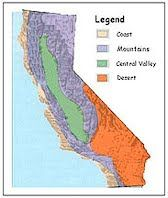 Idea: display a regional map of California with the