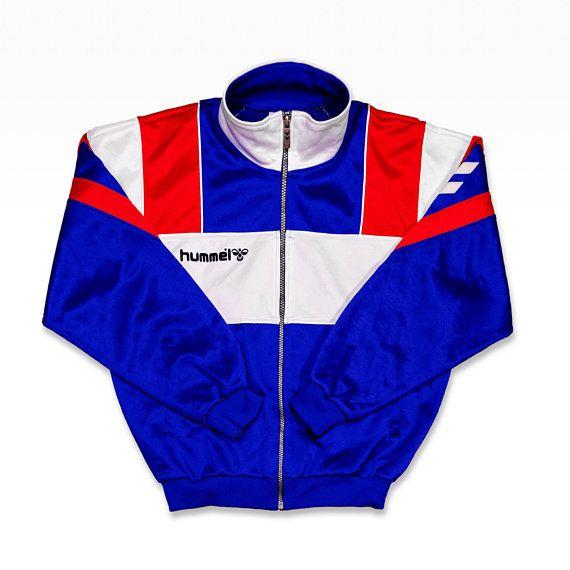 1c73bb5fa8 Hummel Jacket Men Size L 90s Hummel Vintage Colorblock Vintage Hummel Track  Jacket