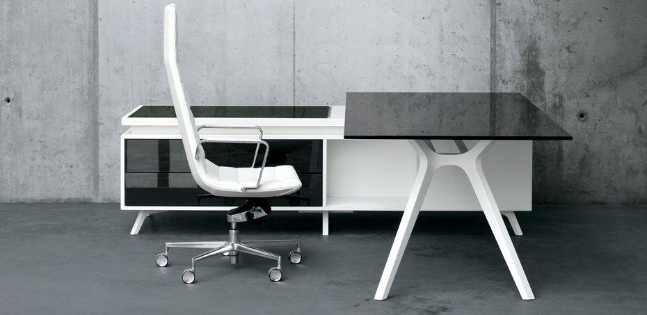 Glass Wood Design Desk Dr By Frezza Dr Executive Program