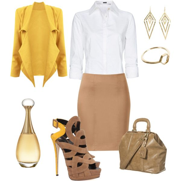 Design Meeting work outfit: classic & clean but with personality and style.