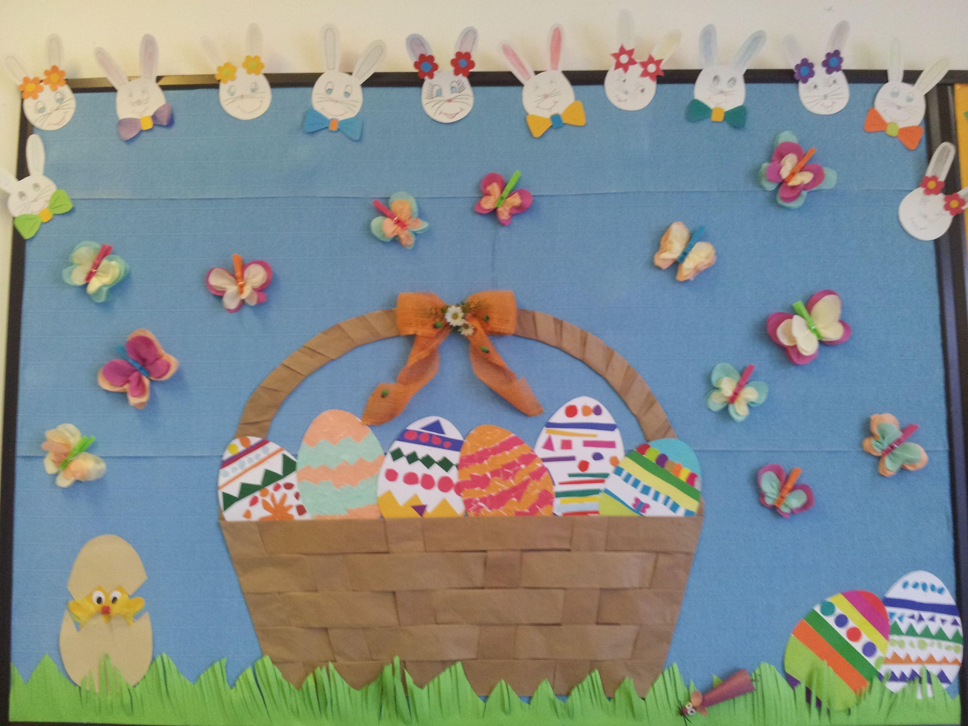 Classroom Theme Basket Ideas ~ Easter bulletin board idea my school crafts pinterest