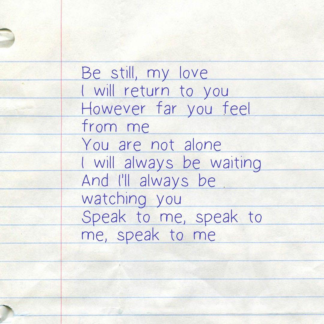 Speak To Me Amy Lee Lyrics In 2019 Me Too Lyrics Amy Lee