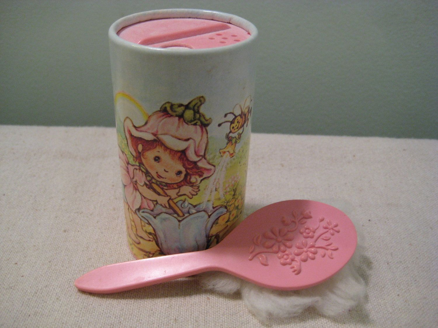 Vintage Avon Little Blossom Whistper Soft Fragranced Talc Toys Tupperware Sweet Set Powder