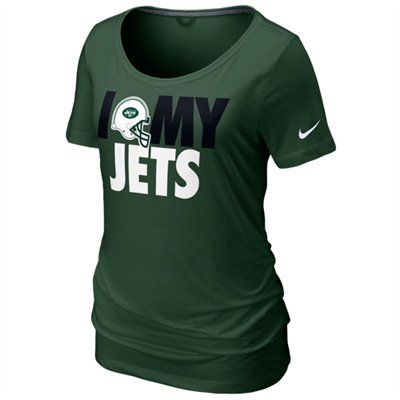 154539540 I do <3 My Jets!! Nike New York Jets Women's Team Dedication Tri-Blend  T-Shirt - Green