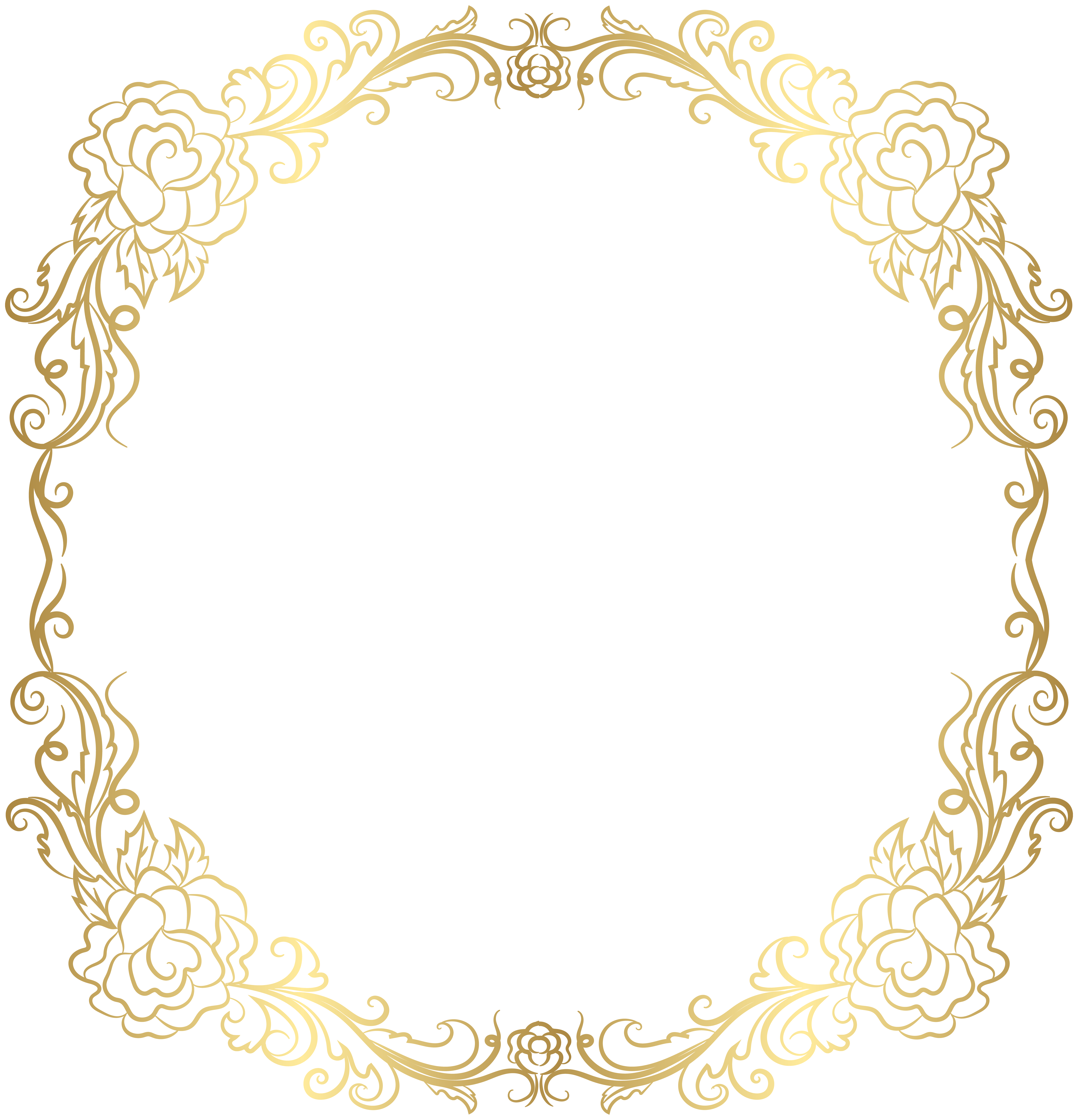 Deco Golden Border Frame Png Clip Art Gallery Yopriceville High Quality Images And Transparent Png Free Clipart Borders And Frames Clip Art Free Clip Art