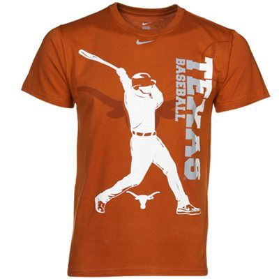 Nike texas longhorns youth baseball graphic t shirt for Texas baseball t shirt