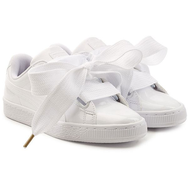059207181c1c Puma Basket Patent Sneakers ( 115) ❤ liked on Polyvore featuring shoes