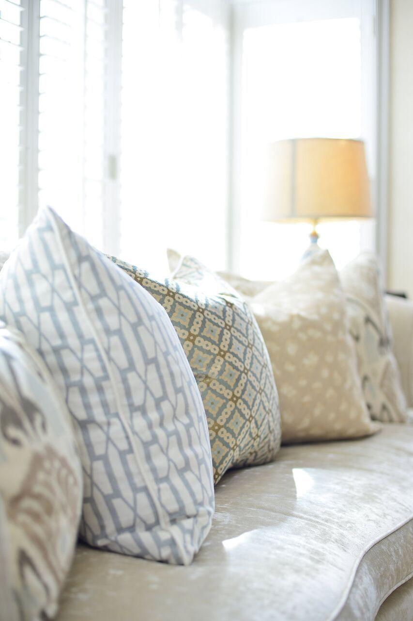 Master bedroom pillow details maggie griffin design modern