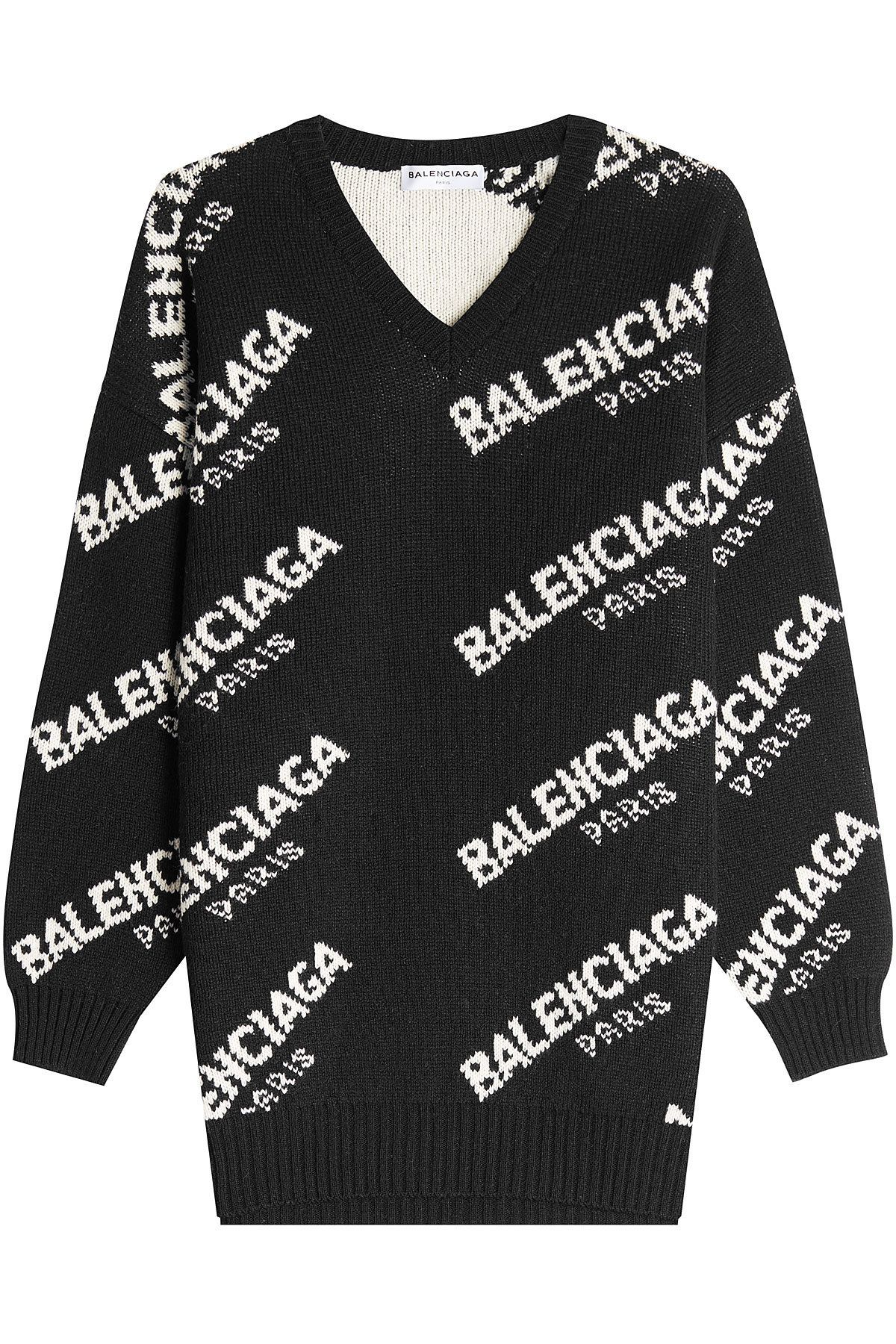 ce2b737940b9 BALENCIAGA JACQUARD LOGO PULLOVER WITH VIRGIN WOOL AND CAMEL. #balenciaga  #cloth #