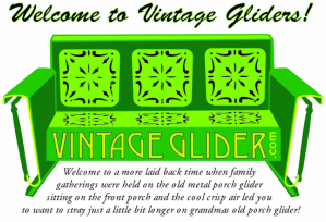 How To Refinish Your Own Old Metal Glider And Old Metal Glider Furniture   Vintage  Gliders