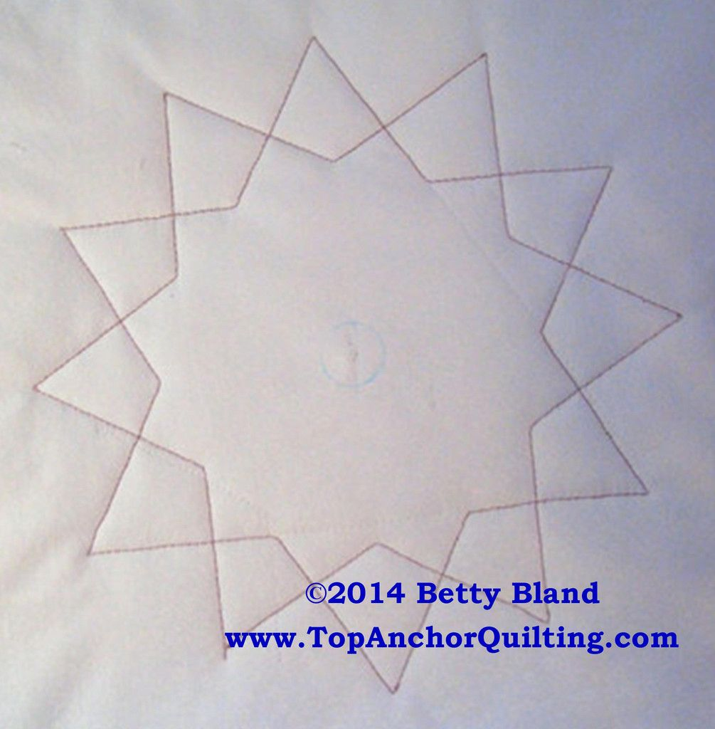 HexStar Machine Quilting Template | Quilting templates, Quilting ...