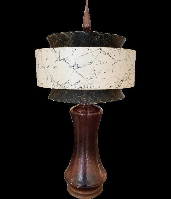Mcm Vintage Blenko Amethyst Table Lamp 297 Bevolo Gas Electric Lighting Lamp Table Lamp Mid Century