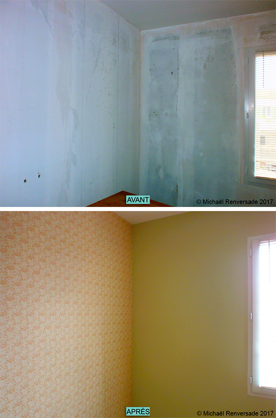 Dépose De Lu0027ancien Papier Peint Et Préparation Des Murs Pour Pose De Papier