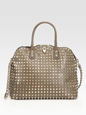 This bag is to DIE for. Literally I would die for this bag. Valentino Rockstud Dome Satchel $2875