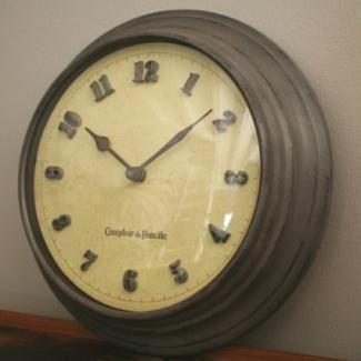 horloge cuisine zinc r tro chic comptoir de famille d coration cuisine bistrot pinterest. Black Bedroom Furniture Sets. Home Design Ideas