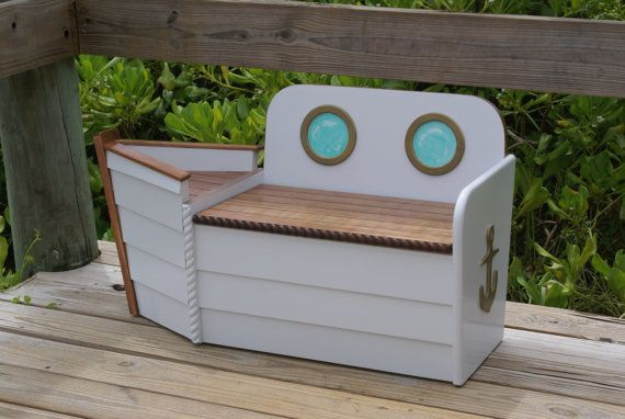 Kids Storage Bench Furniture Toy Box Bedroom Playroom: Toy Box, Toy Chest,Nautical Toy Box, FREE SHIPPING, White