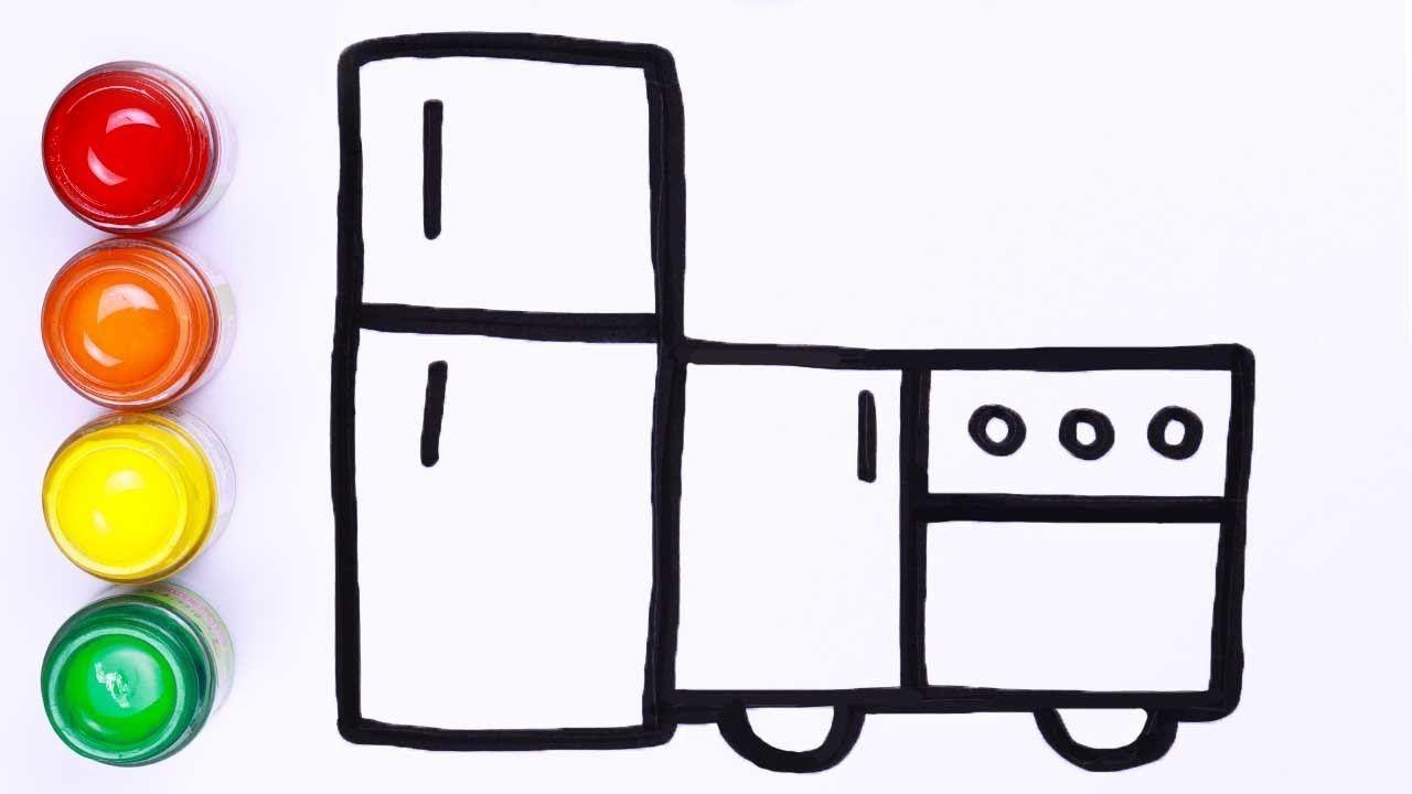 Cara Menggambar Furnitur Dapur Menggambar Dan Melukis Untuk