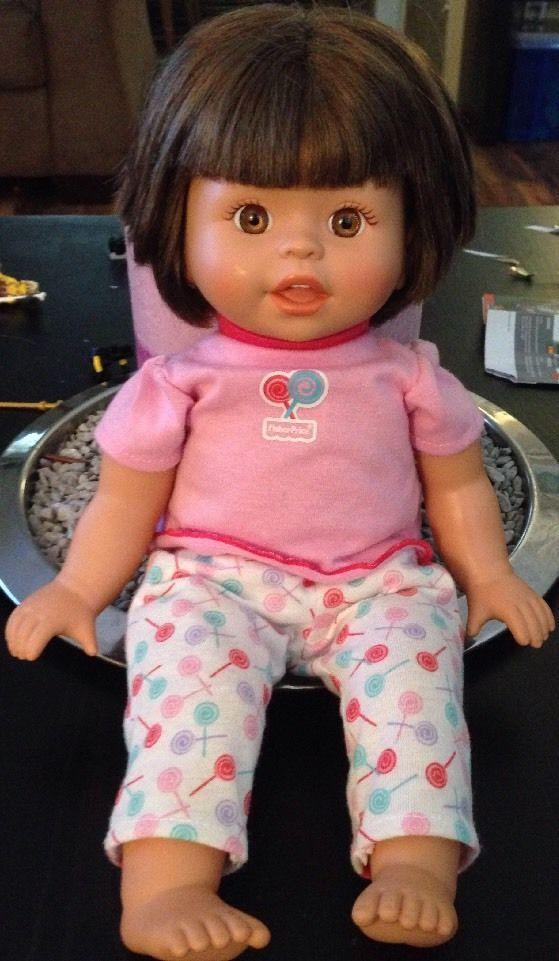 2007 Mattel 14 Plush Vinyl Brown Hair Brown Eyed Baby Doll Brown Hair Brown Eyes Baby Dolls Baby Doll Clothes