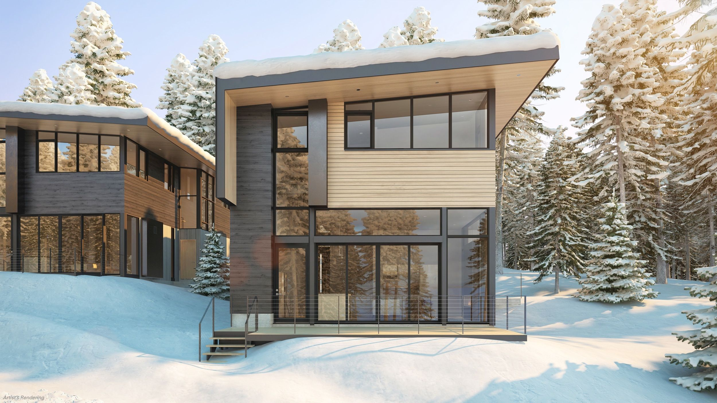 ski chalets get sleek apple store architects design lake