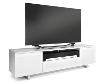 The Modern Design Of The NORA Cabinet Creates A Sleek Home For A - Abt tv stands
