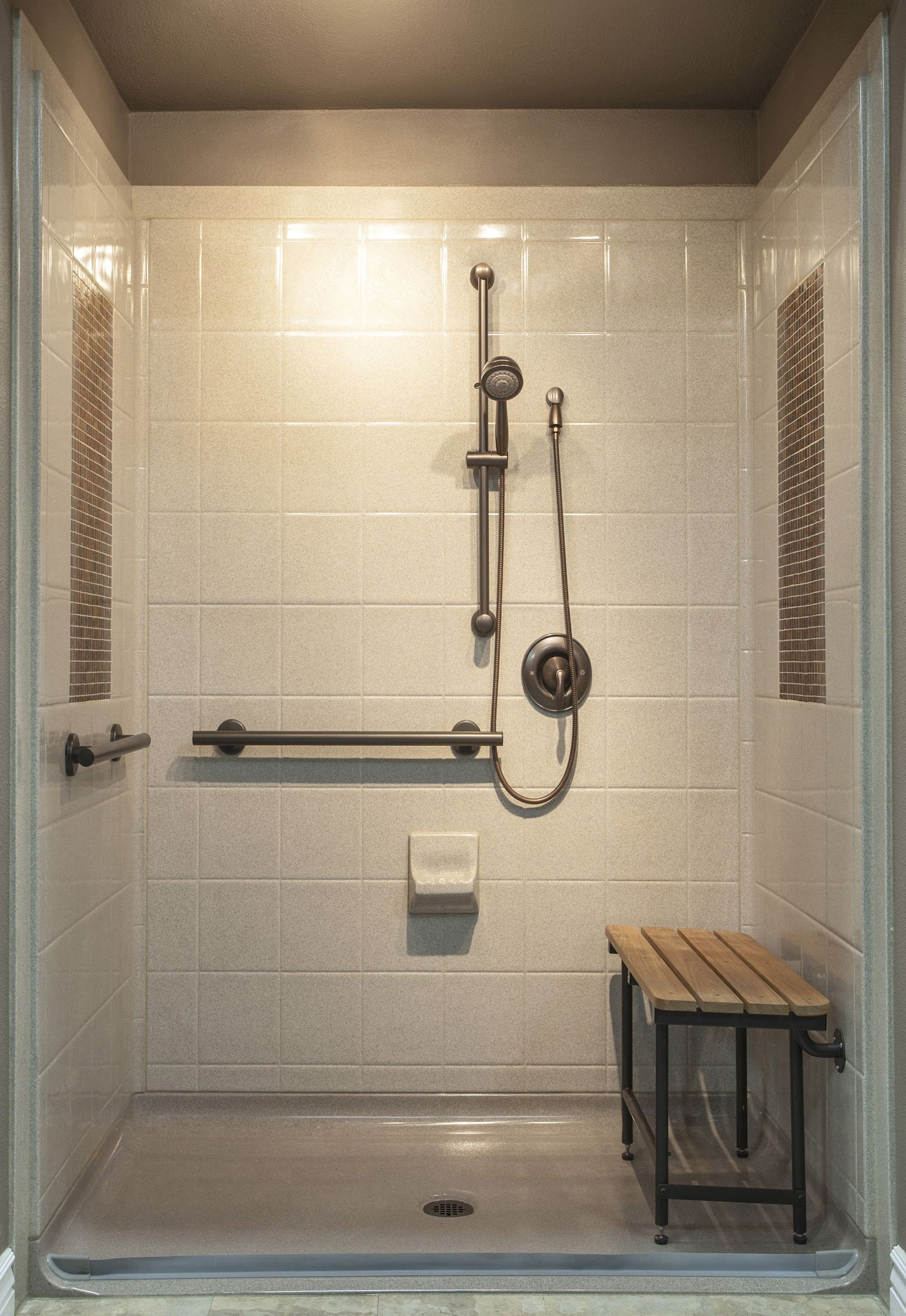 Best Bath Systemu0027s Designer Series Shower. A Composite Shower With Tile  Inlay For The Look