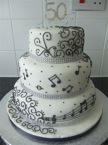 Pipers Cakes Birthday Cakes This one could be used for a 50th